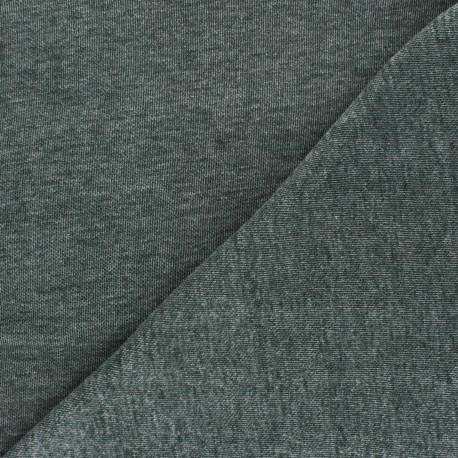 Mind the Maker Organic piqué Sweatshirt fabric - mottled green x 10 cm