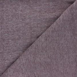 Mind the Maker Organic piqué Sweatshirt fabric - mottled purple x 10 cm