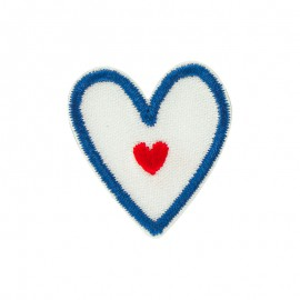 Iron-on patch - Coeur Bleu Blanc Rouge