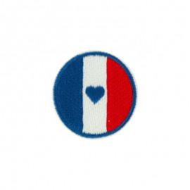 Thermocollant Bleu Blanc Rouge - Drapeau rond
