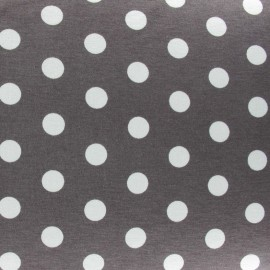 Dots V2 Jersey Fabric - Dark Taupe x 10cm
