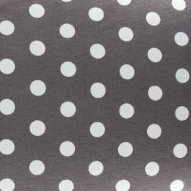 Tissu jersey pois V.2 taupe foncé x 10cm