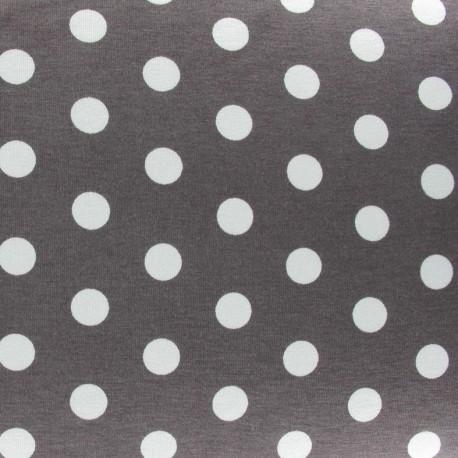 Dots V2 Jersey Fabric - Dark Taupe x 10cm