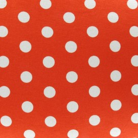 Dots V2 Jersey Fabric - Orange x 10cm