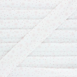 Biais Coton Sparkly Stars - rose x 1m