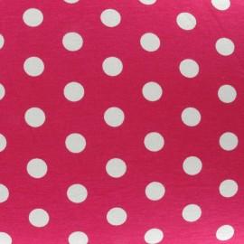 Dots V2 Jersey Fabric - Fuchsia x 10cm