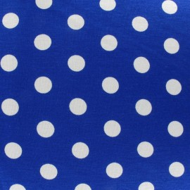 Dots V2 Jersey Fabric - Navy Blue x 10cm