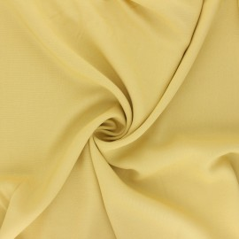 Tissu rayonne uni - jaune x 10cm