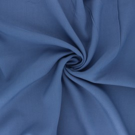 Tissu rayonne uni - bleu saphir x 10cm