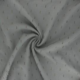 Tissu rayonne lurex - vert de gris x 10cm