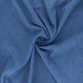 Tissu rayonne lurex - bleu saphir x 10cm