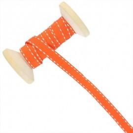 10 mm Side Stitched Ribbon Roll - Orange