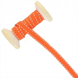 Ruban Surpiqué 10 mm  - orange - Bobine de 25 m