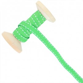 10 mm Side Stitched Ribbon Roll - Green
