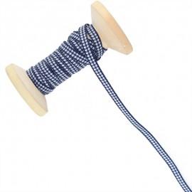 6 mm Gingham Ribbon Roll - Navy Blue