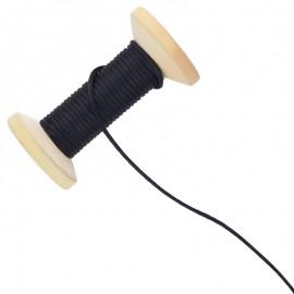 Queue de rat 2.5 mm - noir - bobine de 25 m