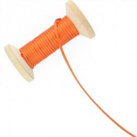 Queue de rat 2.5 mm - orange - bobine de 25 m