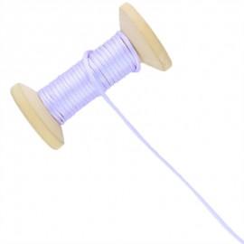 Queue de rat 2.5 mm - parme - bobine de 25 m