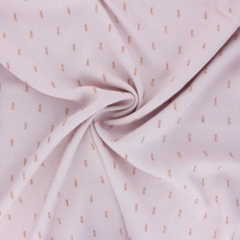 Lurex Rayon fabric - pale pink x 10cm