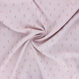 Tissu rayonne lurex - rose pâle x 10cm