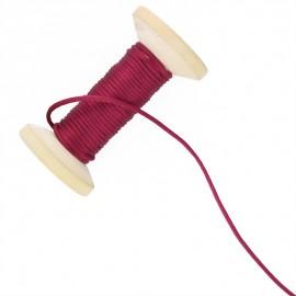 2,5 mm Rattail Cord Roll - Burgundy