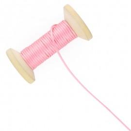 Queue de rat 2.5 mm - rose - bobine de 25 m