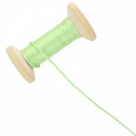 Queue de rat 2.5 mm - vert anis - bobine de 25 m