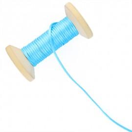 Queue de rat 2.5 mm - turquoise - bobine de 25 m