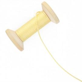 Queue de rat 2.5 mm - jaune paille - bobine de 25 m