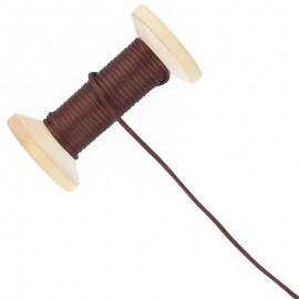 Queue de rat 2.5 mm - marron - bobine de 25 m
