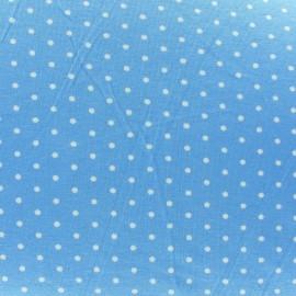 Tissu Jersey mini pois V.2 ciel
