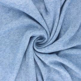 Lurex Knit Jersey fabric - blue Dazzling x 10cm
