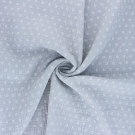 Double cotton gauze fabric - grey Florette x 10cm