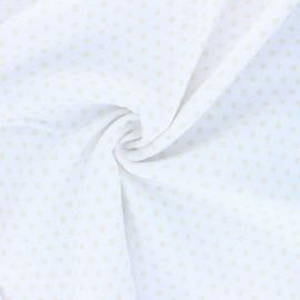 Tissu double gaze de coton Florette - blanc x 10cm