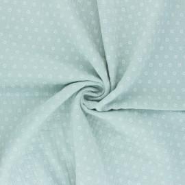 Double cotton gauze fabric - jade green Florette x 10cm