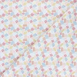 Tissu piqué de coton Rayada - blanc x 10cm