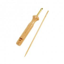 Outil Punch Needle en bois + Aiguille à laine