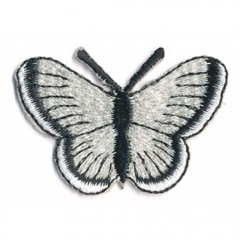 Iron-on patch - Black butterfly