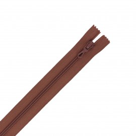 Closed bottom zipper - brown