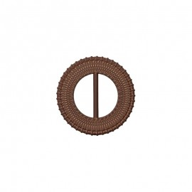 Boucle coulissante ronde 50 mm Loopa - marron
