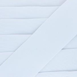 Flat elastic - white Goma x 1m