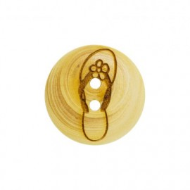Wood button Flip-flop - natural