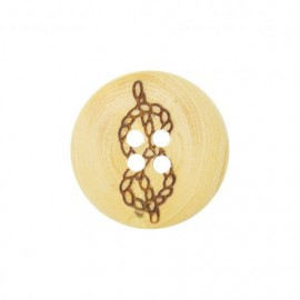 Wood button Sailor's rope - natural