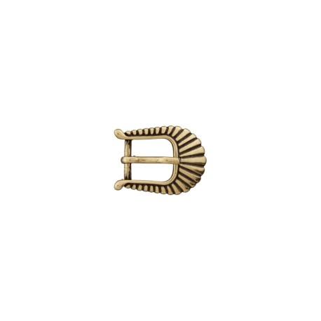 Boucle ceinture métal Western 10 mm - vieil or