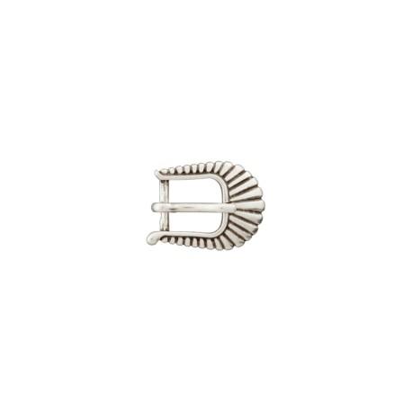 Boucle ceinture métal Western 10 mm - argent