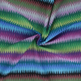 Kaffe Fassett Cotton poplin fabric - purple Diamond stripe x 10cm