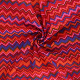 Kaffe Fassett Cotton poplin fabric - red Zig-zag x 10cm