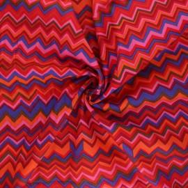Tissu popeline de coton Kaffe Fassett Zig-zag - rouge x 10cm