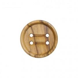 Bouton en bois vernis - naturel