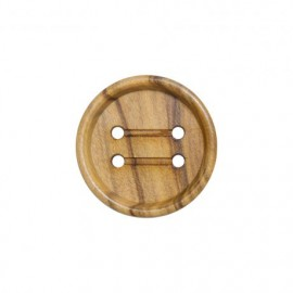 Varnished Wood Button - natural